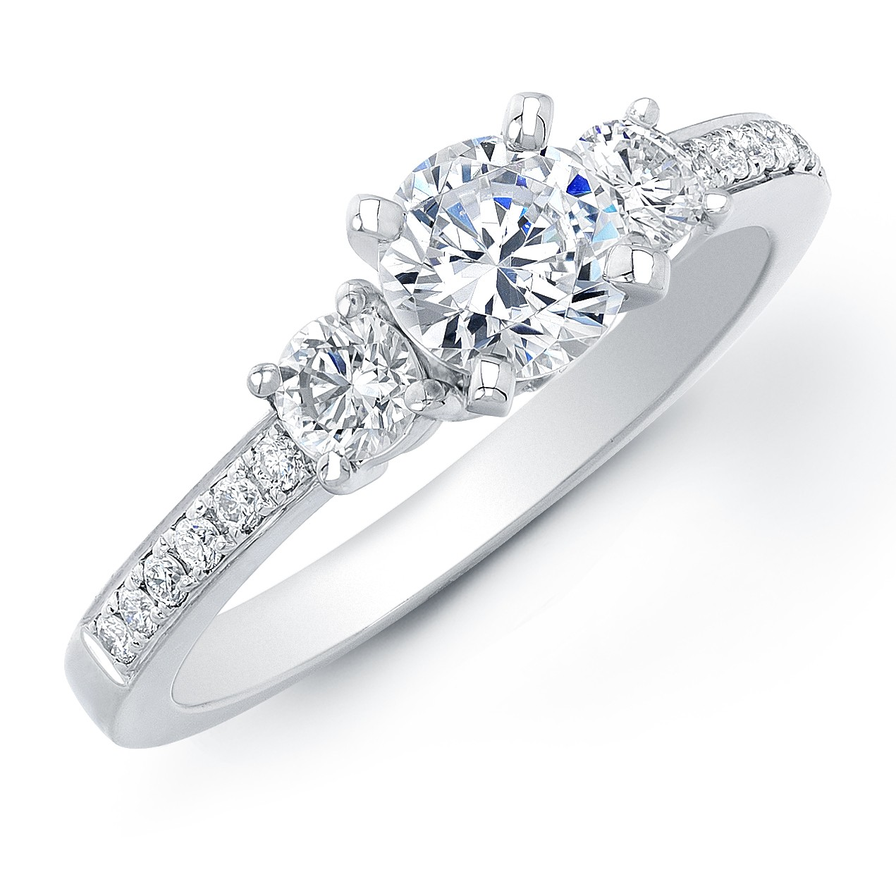1Ct TW Diamond Three Stone Engagement Ring
