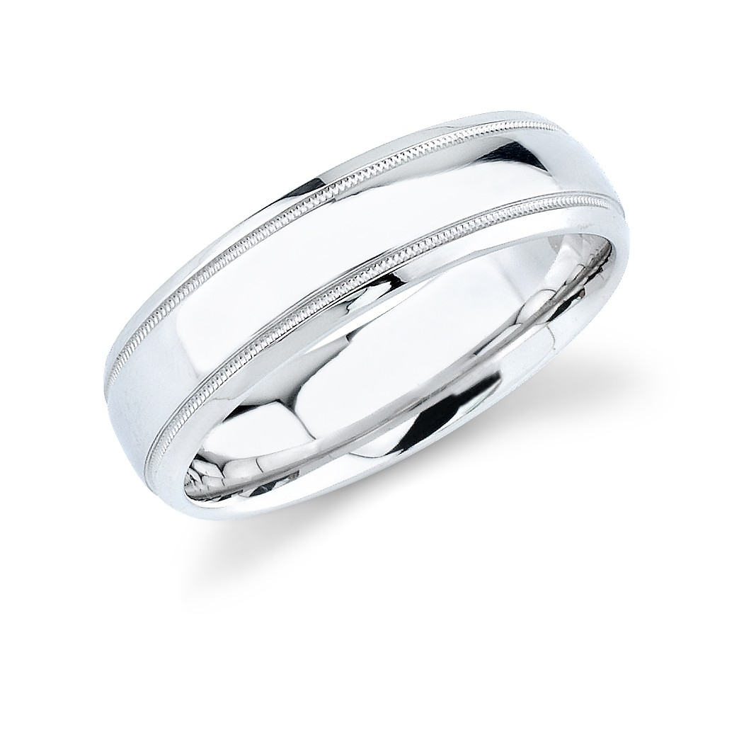 Mens Comfort Fit Wedding Ring