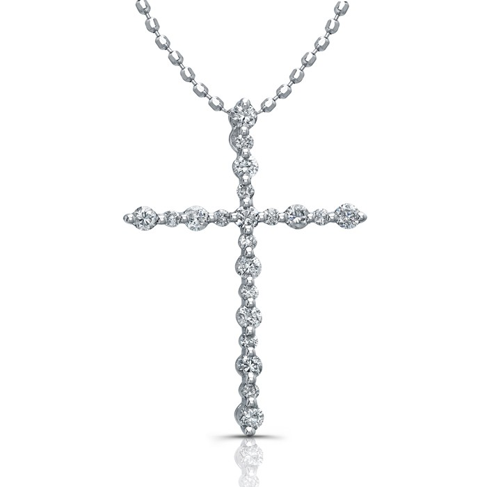 Delicate Traditional Diamond Cross