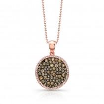 14K Rose-Cocoa Brown Diamond Necklace