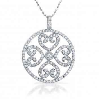 Circle Of Love Diamond Heart Necklace