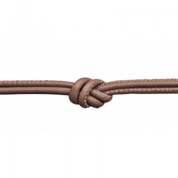 Bronze Metallic Leather Necklace