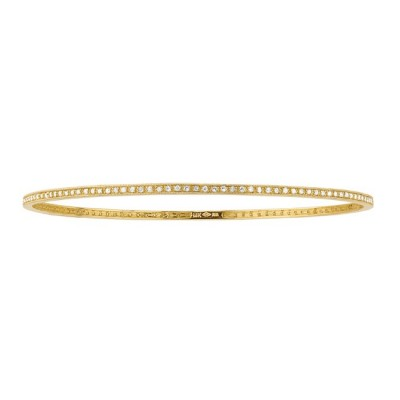 14k yellow  Diamond Pave Set Bangle  19294-Y