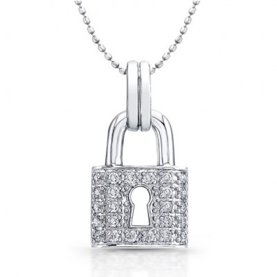 pendant silver lock pre luxury dior vintage owned necklaces necklace metal lxrandco en tone large heart us