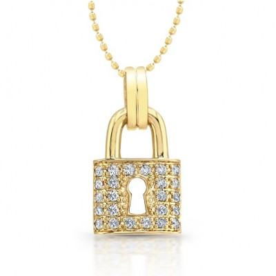crystal swarovski lock pendant image shop pave necklace nordstrom of product
