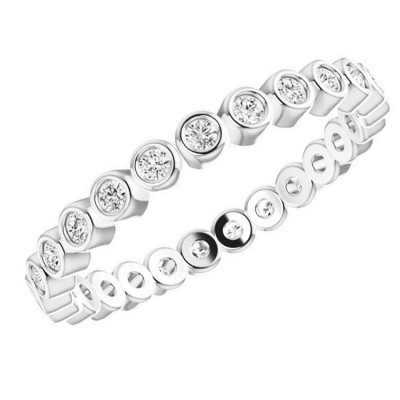 White Gold Bezel Diamond Eternity Band 1/3 CTWT