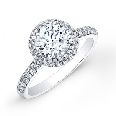 Halo Micro Pave Engagement Ring
