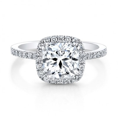 1.22ct Ideal Square Center Diamond Ring