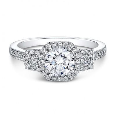 Vintage Design Halo Engagement Ring