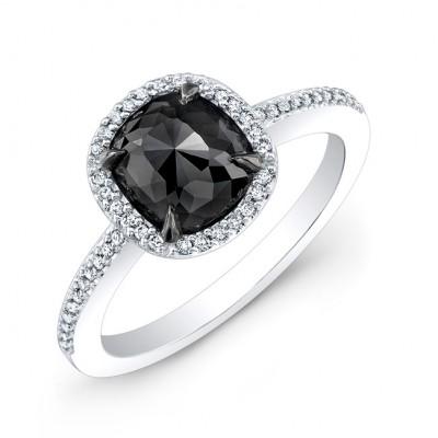 Black Cushion Diamond Ring 28464