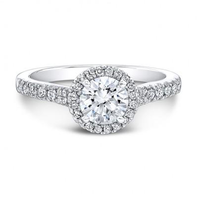 1 Carat TW Halo Engagement Ring