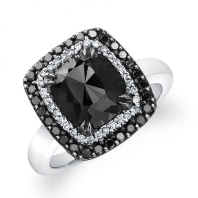 Black Diamond Halo Ring 22819