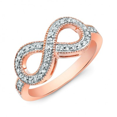 Coby Madison Rose Gold Infinity Ring CM107 R