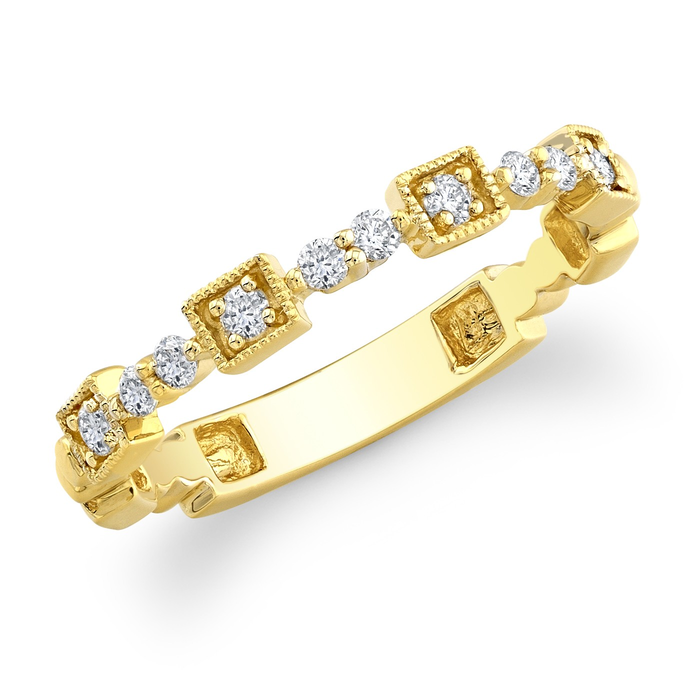 14kt Yellow Diamond Wedding Ring Stacking 19751 Y