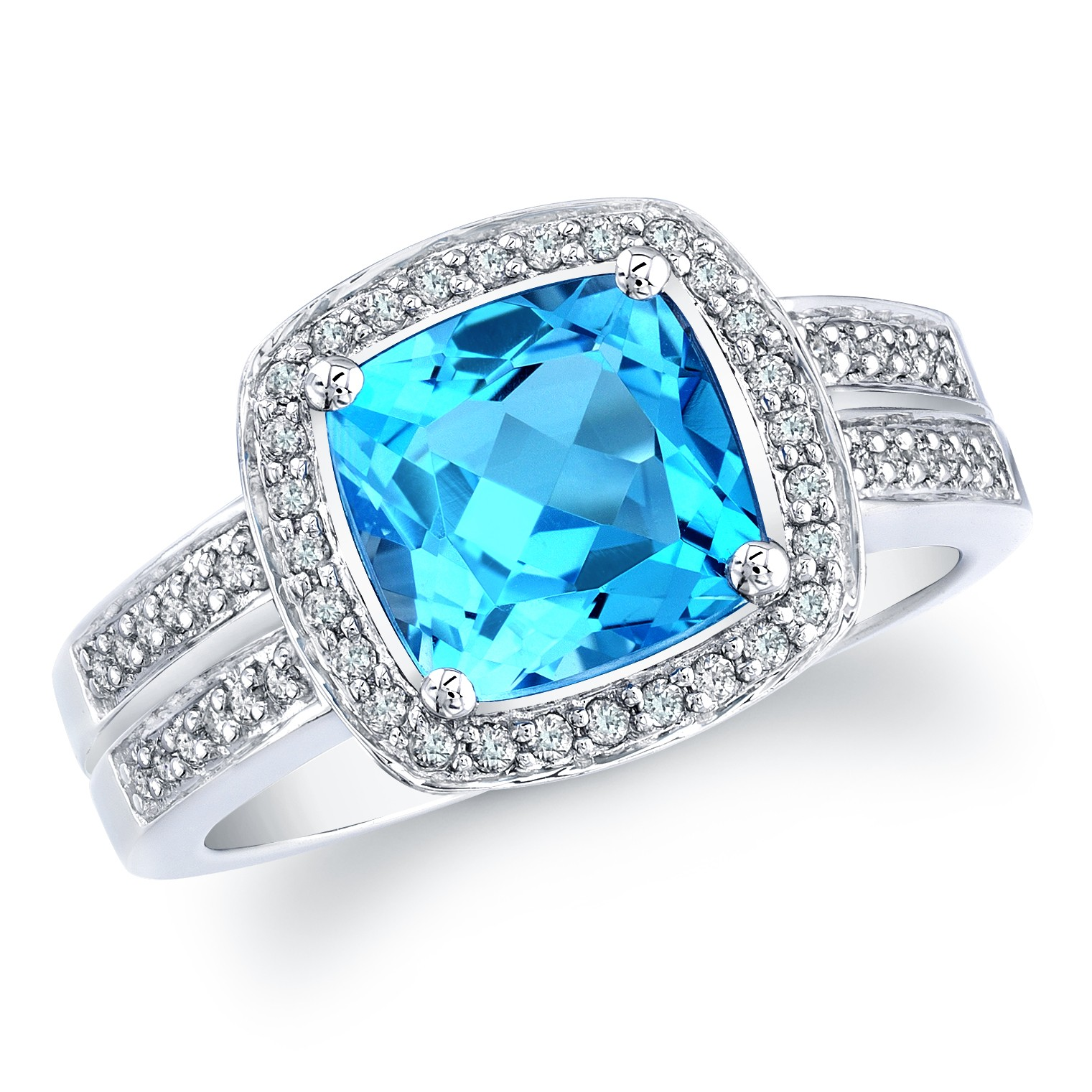ring in topaz with rings diamonds blue white gold