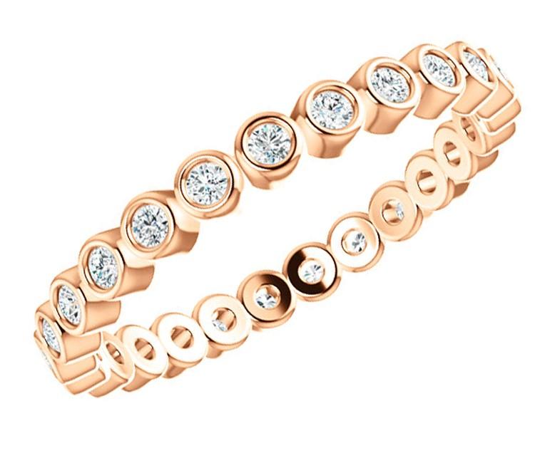 Rose Gold Bezel Eternity Ring