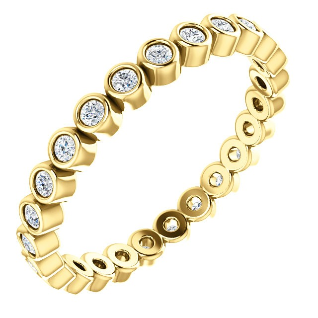 yellow bezel eternity ring