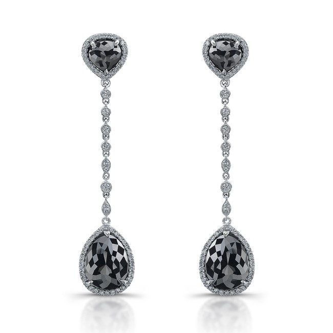 diamond men mens earrings solid white ctw for stud black gold