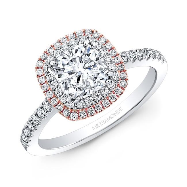 1 Carat Cushion Diamond Halo Ring