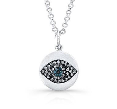 Blue Diamond Diamond Evil Eye Pendant