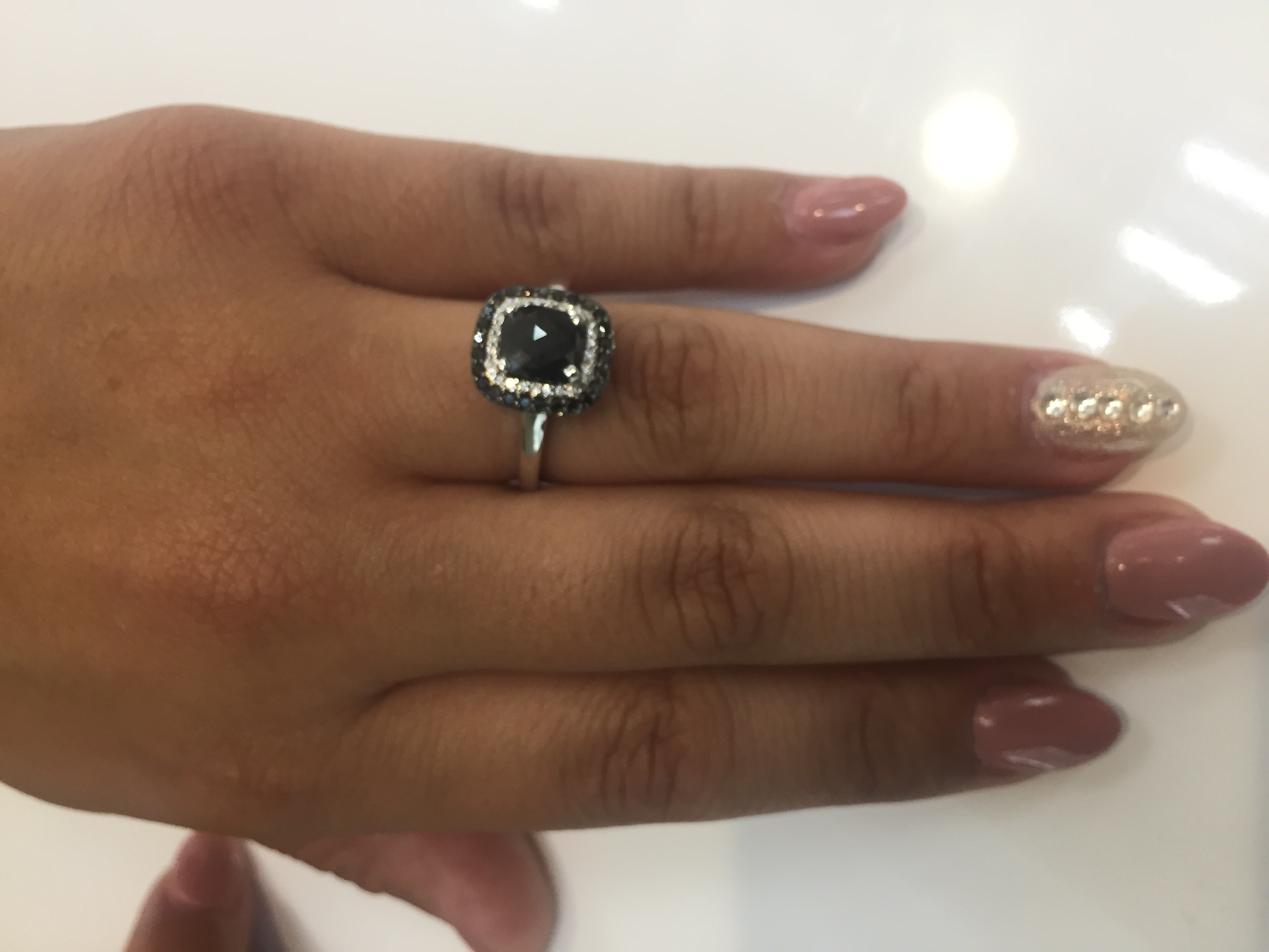 black diamond engagement ring on finger wwwpixsharkcom