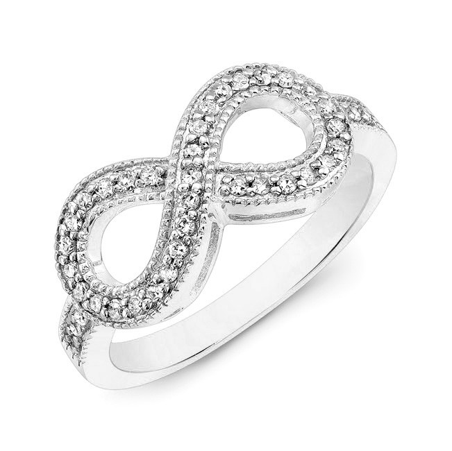 white gold infinity ring cm107w