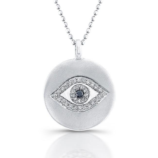 black diamond evil eye necklace. Black Bedroom Furniture Sets. Home Design Ideas