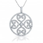 Circle Of Love Diamond Heart Necklace