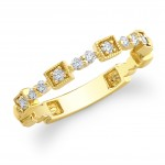 14kt Yellow Diamond Wedding Ring-Stacking