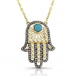 Vintage Brown Diamond Hamsa