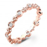 Stackale Rose Gold Diamond Eternity Band