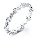 Stackale White Gold Diamond Eternity Band