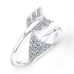 White Gold Diamond Arrow Ring