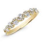 yellow gold stacking diamond ring 29240