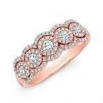 5/8TWT RoseGold 5 Stone Diamond Ring