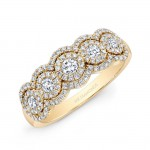5/8TWT Yellow Gold 5 Stone Diamond Ring