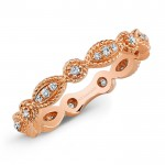 Stackable Rose Gold Diamond Eternity Band