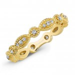 Stackable Yellow Gold Diamond Eternity Band