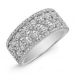 1 1/2TWT White Gold  Diamond Ring