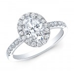 Oval Halo Engagement Ring