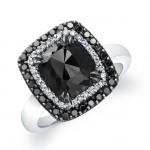 Black Diamond Halo Ring 22819