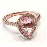 Morganite Pear Shape Engagement Ring