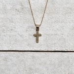 14k Yellow Gold Baby Cross Necklace