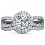 18k White Gold Micro Prong Diamond Bridal Set - NK18592WE-18W