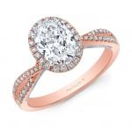 Natalie k criss cross shank oval halo engagement ring
