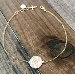 Gold Diamond Disc Bracelet