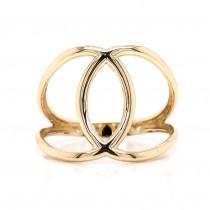 14K Yellow Gold Fashion Ring