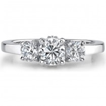 1 CTW Three Stone Diamond Engagement Ring