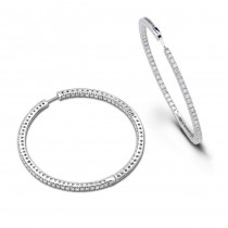 Diamond Hoops Inside Out 2.40cts