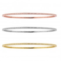 White-Yellow-Rose Gold Diamond Bracelets-Stacking